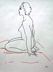 vrouw op hurken