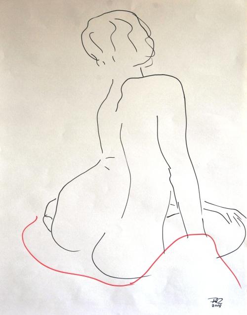 FdeZanger,vrouw zittend,op rug