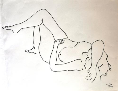FdeZanger,vrouw liggend op rug,auto corr